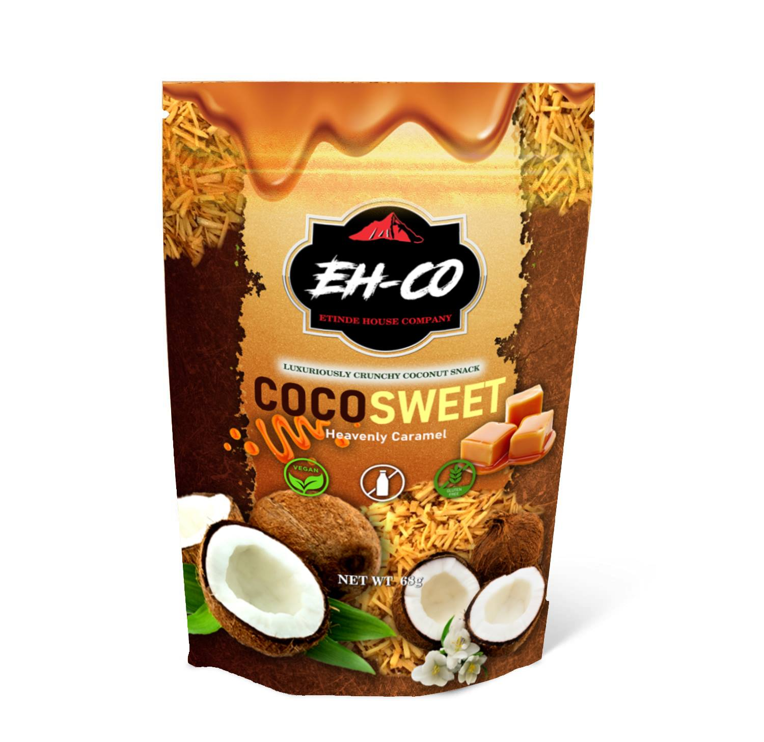 COCOSWEET | HEAVENLY CARAMEL | CANDIED COCONUT SNACK