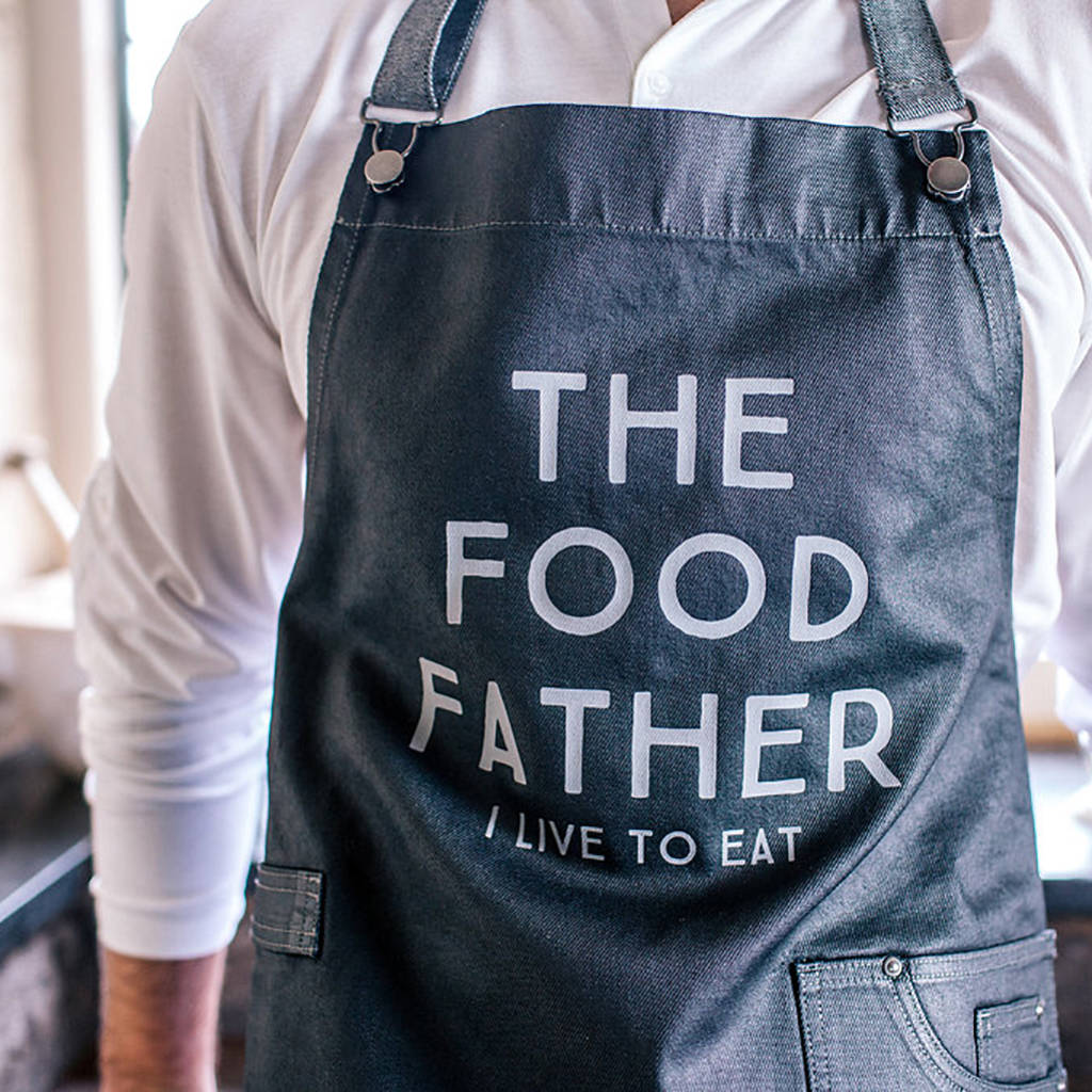 Food Father Waxed Denim Apron