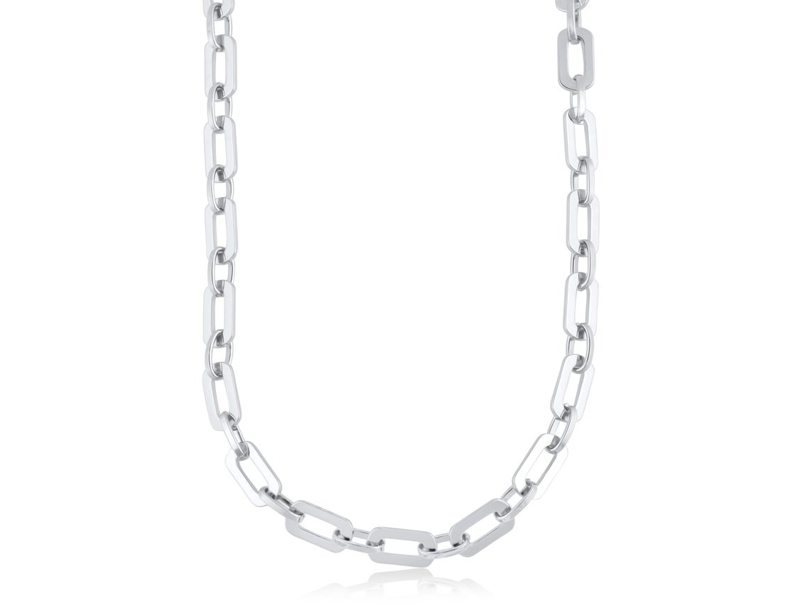 Arlette Statement Chunky Chain Necklace – Silver