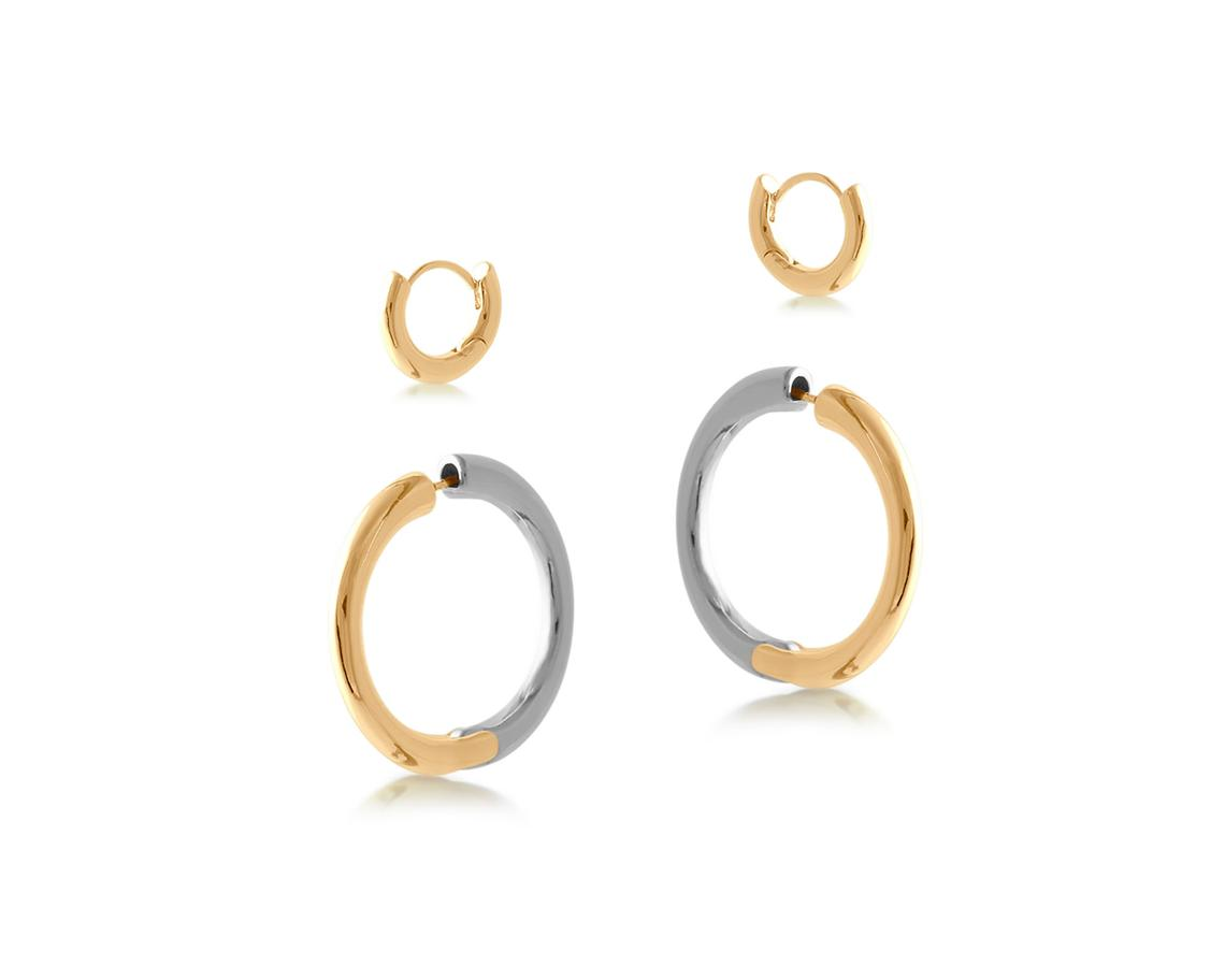 Severine Two Tone Earring Pack – Gold