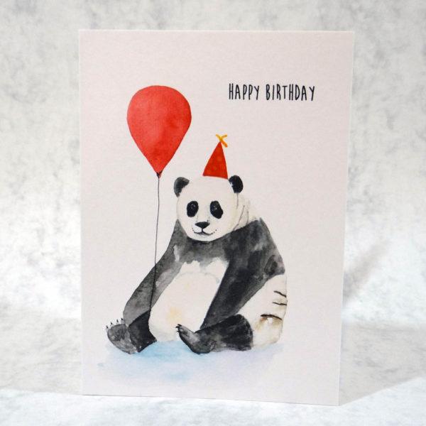 Panda Balloon Birthday Card