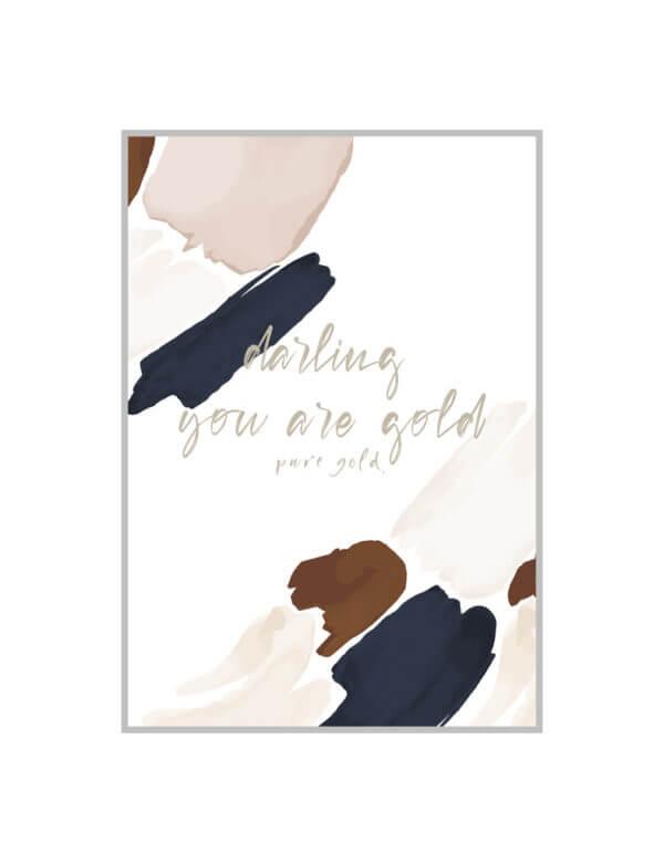 DARLING PURE GOLD postcard